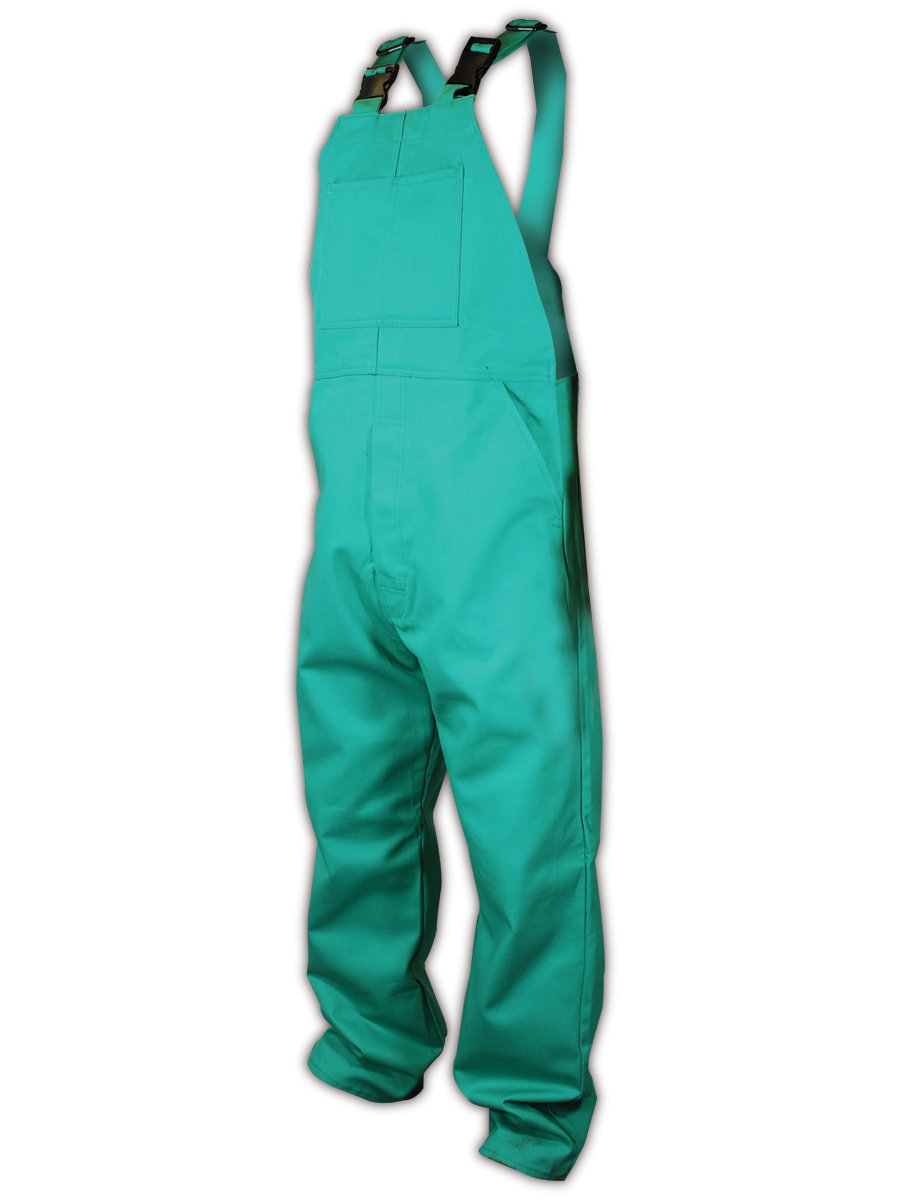 Magid C81N586 SparkGuard 100 Percent Cotton Flame Resistant Flame Resistant Bib Coverall, 4X-Large, Green
