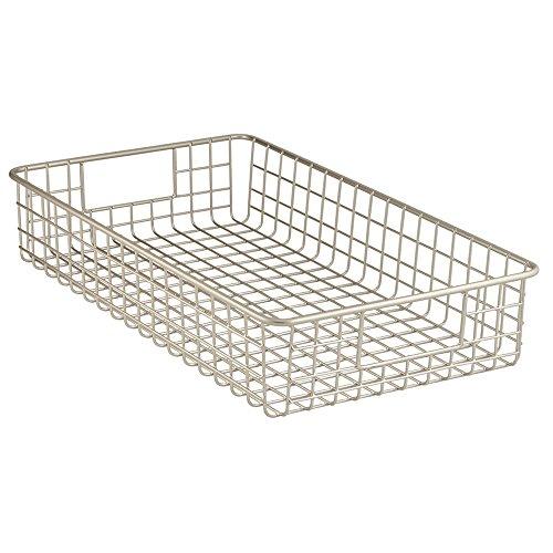 Pantry Organizer Baskets (InterDesign Classico Kitchen Pantry Freezer Wire Organizer Basket, Satin)