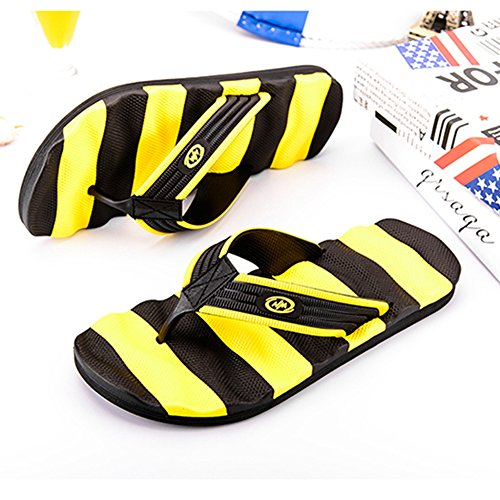 Large Fashion Uomo Yellow Adulti Mare Da Travel Pantofole Casual Infradito Infradito Flip Flop Sandali MERRYHE Estate Da Plus FTgUvva