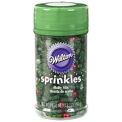 Wilton W5085 Sprinkles 3oz, Holly Mix