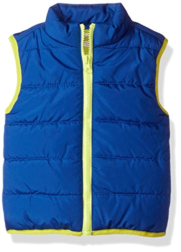 (Crazy 8 Boys' Toddler Puffer Vest, Multi, 6-12 mo)