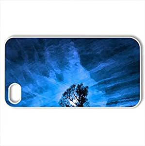 Beautiful night - Case Cover for iPhone 4 and 4s (Sky Series, Watercolor style, White)