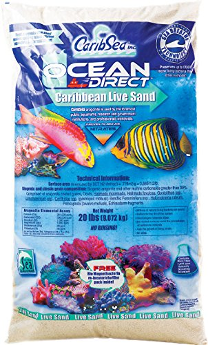 Carib Sea ACS00940 Ocean Direct Natural Live Sand for Aquarium, 40-Pound by Carib Sea