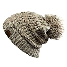 38725a979e0 Hatsandscarf CC Exclusives Unisex Ombre Ribbed Confetti Knit Beanie with  POM (YJ-817POM) (Oatmeal)  0611165227944  Amazon.com  Books