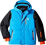 Spyder Kids Boy's Axis Jacket (Big Kids) French Blue/Black/Brush 20