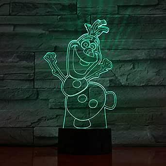 wangZJ 3d Lights / 7 Lámpara de acrílico colorida del control ...