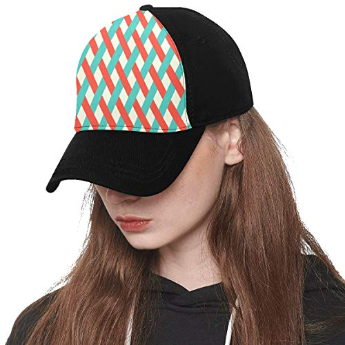 (Front Panel Custom Basket Design Creative Element Vintage Printing Baseball Hat Adjustable Size Curved Cap for Hip-hop Sports Summer Beach Outdoor Activities)
