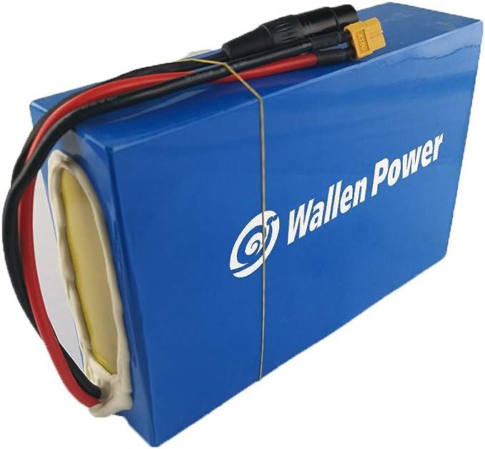 1800W Batterie au lithium 52V20AH Ebike pour moteur de v/élo /électrique 2000W 1600W 1500W de v/élo prise Anderson XT90 XT60 /équip/ée dun BMS dun interrupteur