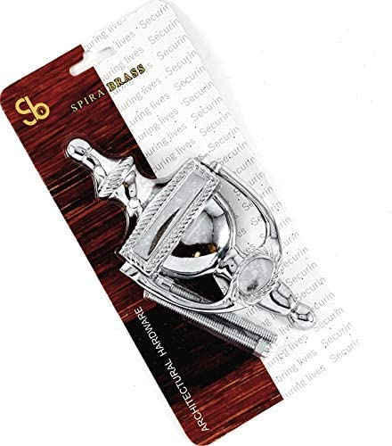Polished Chrome Door Knocker Georgian Urn Traditional Style Solid Brass 6