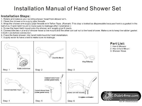 BIDET4ME SH 546 5 Setting Rainfall Jet Spray Handheld Hand Shower Head   Value Pack     Amazon.com