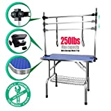 """SCYL 36"""" Foldable Dog Pet Cat Grooming Table with Arm Clamp for Large Animals (36"""" L X 24"""" W)"""