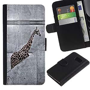 All Phone Most Case / Oferta Especial Cáscara Funda de cuero Monedero Cubierta de proteccion Caso / Wallet Case for Sony Xperia Z3 Compact // Urban Giraffe Animal