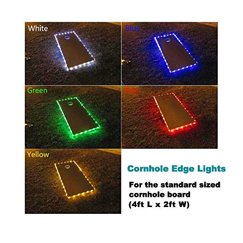 321 Lights(Set of 2 Cornhole Board Edge Lights Waterproof Lights with 5 Colors Options Last 100+ Hours on 3 AA Batteries(not Included) (2 Red) ()