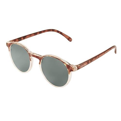 Gafas de Sol, Crooked Gafas de Sol Leopard Unisex Polarizadas con 100% Prtección
