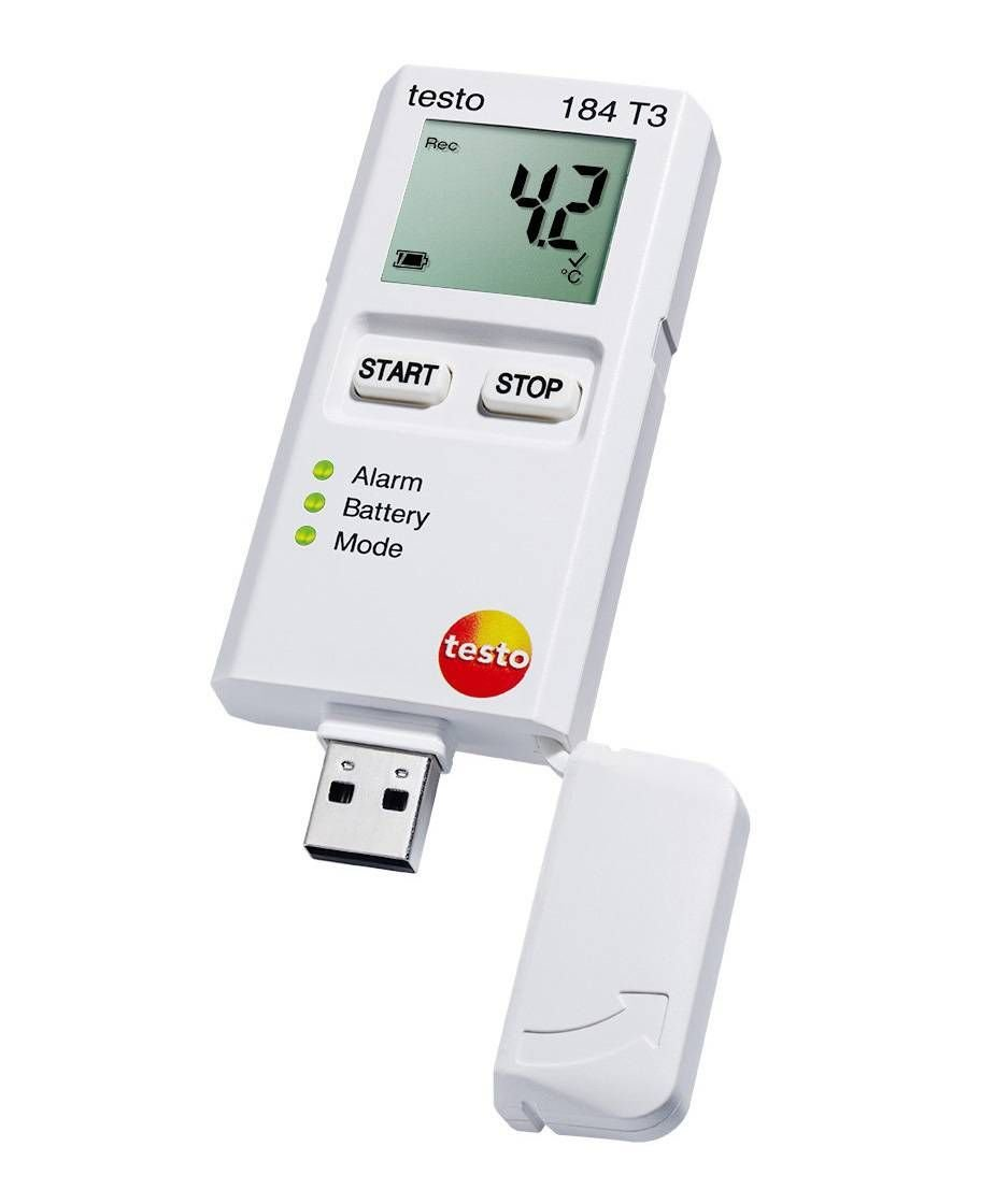 Testo 184 T3 (0572 1843 01) Temperature USB Transport Data Logger with LCD Display
