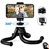 "Phone Tripod, Auto Tech TravelPod 12"" Portable and Adjustable Camera Stand Holder"
