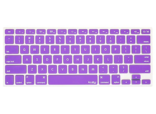 Kuzy PURPLE Keyboard Cover Silicone Skin for MacBook Pro 13 15 17 (with or w/out Retina Display) iMac and MacBook Air 13 - Purple