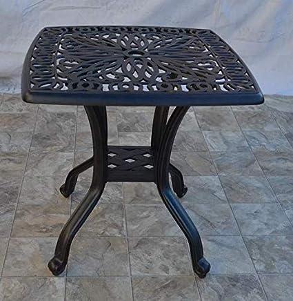 Amazon Com More Sweet Deals Outdoor Patio Side Table Cast Aluminum