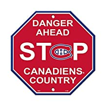"NHL Montreal Canadiens Stop Sign, 12"" x 12"""