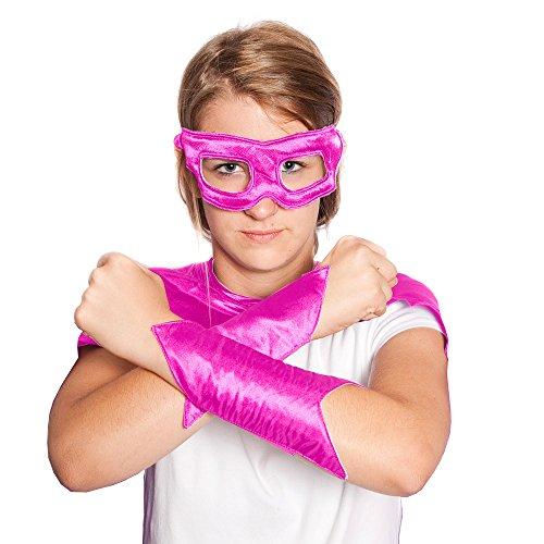 Everfan Women's Superhero Eye Mask and Powerbands (6