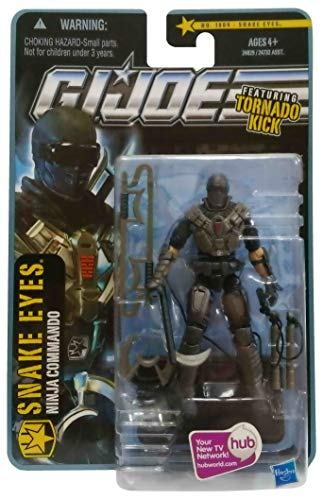 G.I. Joe Pursuit of Cobra (POC) Snake Eyes (Ninja Commando) with Tornado Kick 3.75 Inch Action Figure ()