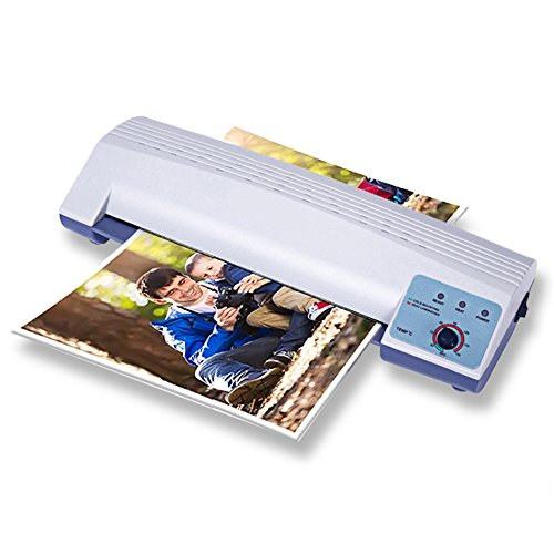 BAOSHISHAN Thermal Laminator A4 Film Laminating Machine with Two Roller System Hot&Cold Fast Warm-up 110V/220V (220V) by BAOSHISHAN