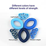 Yuboa Finger Strength Trainer for Forearm Exercise,Finger Stretcher for Guitar,Hand Exerciser set for Arthritis,Hand Grip Strengthener Rings for Rock Climbing,3 Level,6Pcs.