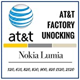 At&t Nokia Lumia Factory Unlocking Codes 520, 635, 640, 820, 830, 900, 920 1520, 2520. This unlocking service provides IMEI unlock codes for At&t Nokia Lumia mobile phones. Your device will be unlocked permanently and operate on any GSM network worldwide.
