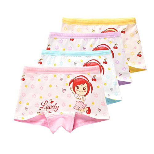Girls Toddler Kids Cherry Girl Boyshort Underwear Boxers Briefs Panties ()