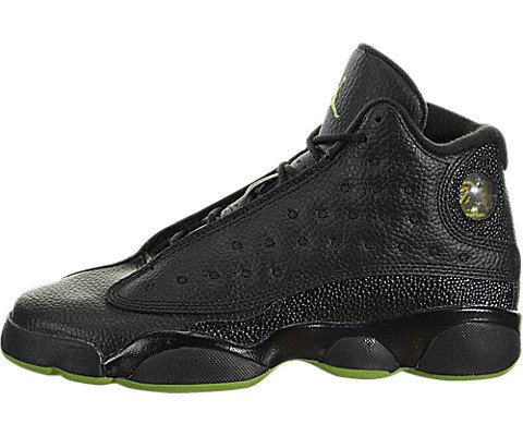 Air Jordan 13 Retro Big Kids' Basketball Shoes Black/Altitude Green 414574-042 (5.5 M US)