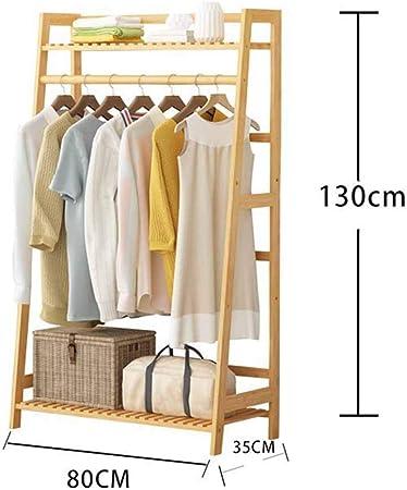 FVGH Perchero de Escalera Perchero de Madera Maciza Toallero Simplicidad nórdica Dormitorio salón baño A 80 * 35 * 130 cm: Amazon.es: Hogar