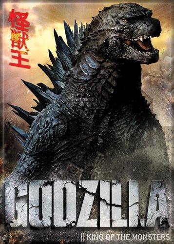 Godzilla - Head and Shoulders - Refrigerator Magnet (Magnet Godzilla)