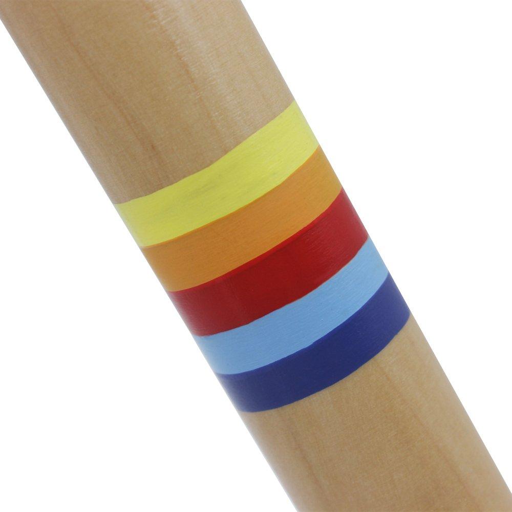 Kalaok Empujar Tirar Silbato de Madera de la Flauta de Fipple Regalo del Juguete del Instrumento Musical Para Ni/ños