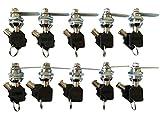 Tubular Cam Lock with 5/8'' Cylinder and Chrome Finish, Keyed Alike (Pack of 10)