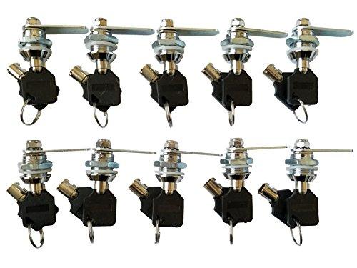 Tubular Cam Lock with 5/8'' Cylinder and Chrome Finish, Keyed Alike (Pack of 10) by Products Quad (Image #9)