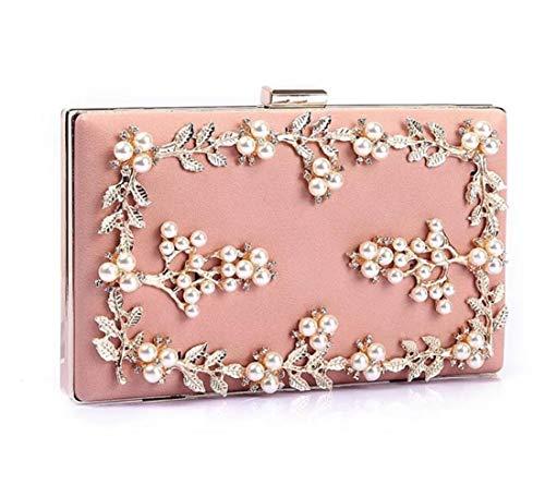 Conjunto Floral Bolso La Diamantes Perlas Embrague Gama color 04 Noche De Con Moda Alta Para Cena 01 xITddq