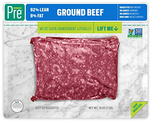 Pre, 92% Lean Ground Beef - Grass-Fed, Grass-Finished, and Pasture-Raised - 16oz. (Tender Grass Fed Meat)