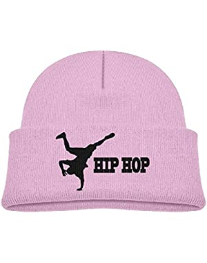 Kids Funny Hip Hop Breaking Dance Silhouette Casual Flexible Winter Knit Hats/Ski Cap/Beanie/Skully Hat Cap