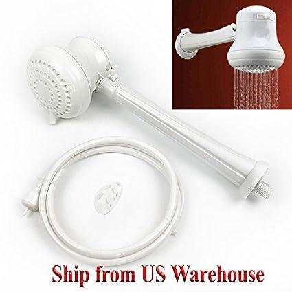 XXECommerce - Cabezal de ducha eléctrico instantáneo para calentador de agua caliente, 110 V,
