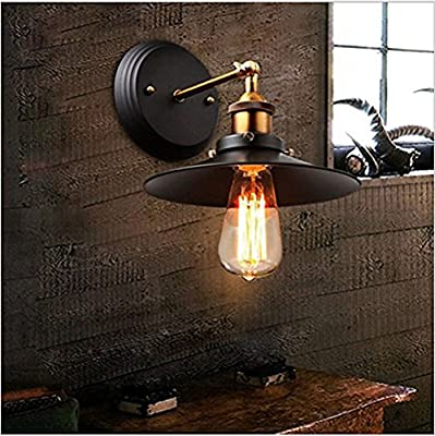 Ecopower Industrial Edison Simplicity 1 Light Wall Lamp Aged Steel Finished Retro Wall Lamp