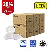 IN HOME 11-inch LED Flush mount Ceiling Light MS Series 20W (100W equivalent), Dimmable, 3000K (Warm white), 1734 Lumens, White Finish with Acrylic white shade, (24 pack) ETL and ENERGY STAR listed