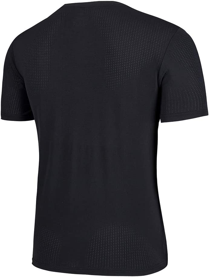 Inicio Herren T-Shirt O-Ausschnitt Kurzarm Schnelltrocknend T-Shirt Oberteile Strumpfhosen Bekleidung Outdoor Gym Fitness Running Sportswear