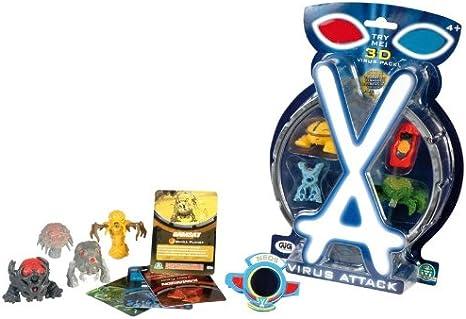 BLISTER 4 PCS ataque de virus NCR01992: Amazon.es: Juguetes y juegos