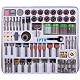 SPTA 216 Piece Rotary Tool Accessory Set- For Proxxon Dremel Rotary Tools- Grinding,Sanding,Polishing,Buffing,,Engraving,Cleaning-3mm Shank