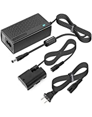 Kimaru ACK-E6 DR-E6 DC Coupler LP-E6 LP-E6N Dummy Battery AC Power Adapter Kit for Canon EOS 80D,70D,60D, 5D Mark II,5D Mark IV,6D,6D Mark II,60Da,7D,7D Mark II,5Ds, 5Ds R,90D,EOS R,R5,R6 Cameras.