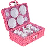 Jewelkeeper Porcelain Tea Set for Little Girls with