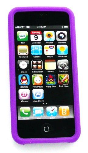 Emartbuy ® Pack Stylet Pour Apple Iphone 5 5G Mini Pourpre Métallique Stylus + Silicon Skin Cover / Case Pourpre + Protecteur D'Écran Lcd