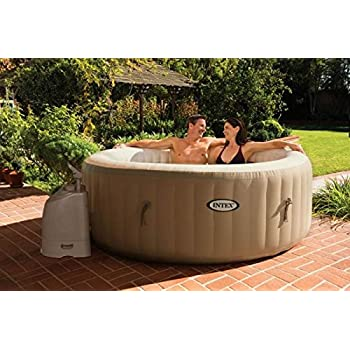 Amazon.com : Intex Pure Spa Deluxe Inflatable 4 Person Portable Spa ...
