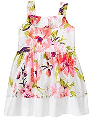 Baby Toddler Girls' Pink Floral Print Dress