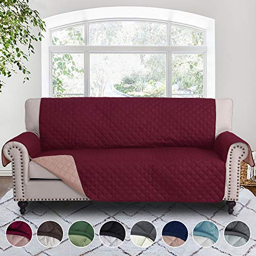 RHF Reversible Sofa Cover, Couch Covers for 3 Cushion Couch, Couch Covers for Sofa, Couch Cover, Sofa Covers for Living Room,Couch Covers for Dogs, Sofa Slipcover,Couch ()